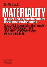 Materiality in der internationalen Rechnungslegung
