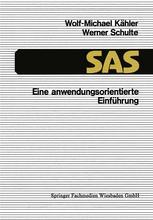 SAS — Eine anwendungsorientierte Einführung