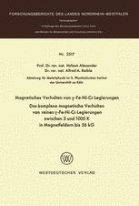 Magnetisches Verhalten von γ-Fe-Ni-Cr-Legierungen