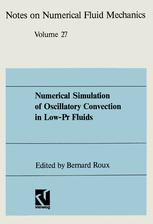 Numerical Simulation of Oscillatory Convection on Low-Pr Fluids
