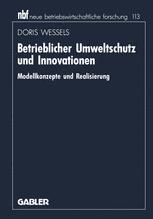 Betrieblicher Umweltschutz und Innovationen