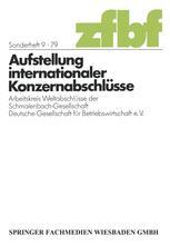 Aufstellung internationaler Konzernabschlüsse