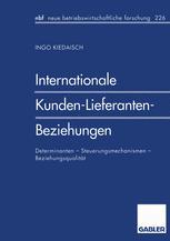 Internationale Kunden-Lieferanten-Beziehungen
