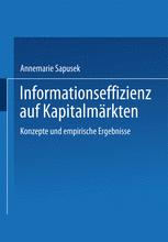 Informationseffizienz auf Kapitalmärkten