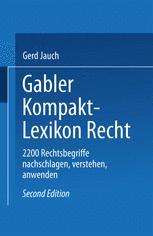 Gabler Kompakt Lexikon Recht