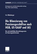 Die Bilanzierung von Pensionsgeschäften nach HGB, US-GAAP und IAS