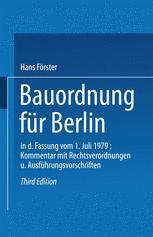 Bauordnung für Berlin in der Fassung vom 1. Juli 1979