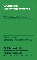 Einführung in die deutsche Literatur des 18. Jahrhunderts