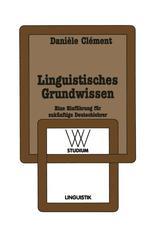 Linguistisches Grundwissen