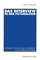 Das Interview in der Psychologie