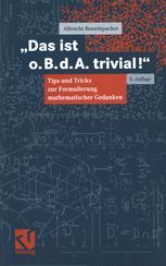 """""""Das ist o. B. d. A. trivial!"""""""