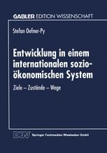Entwicklung in einem internationalen sozio-ökonomischen System