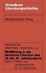 Einführung in die deutsche Literatur des 12. bis 16. Jahrhunderts