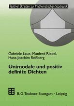 Unimodale und positiv definite Dichten
