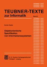 Objektorientierte Spezifikation von Informationssystemen