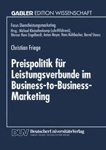 Preispolitik für Leistungsverbunde im Business-to-Business-Marketing