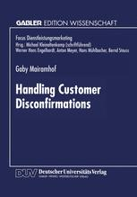 Handling Customer Disconfirmations