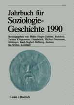 Jahrbuch für Soziologiegeschichte 1990