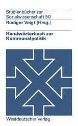 Handwörterbuch zur Kommunalpolitik