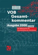 VOB Verdingungsordnung für Bauleistungen Gesamtkommentar zur VOB Ausgabe 2000