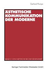 Ästhetische Kommunikation der Moderne