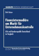 Finanzintermediäre am Markt für Unternehmenskontrolle