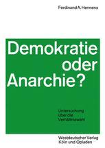 Demokratie oder Anarchie?