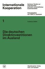 Die deutschen Direktinvestitionen im Ausland