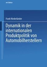 Dynamik in der internationalen Produktpolitik von Automobilherstellern
