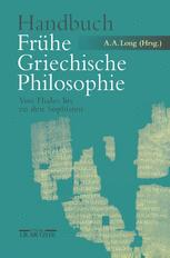 Handbuch Frühe Griechische Philosophie
