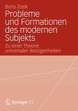 Probleme und Formationen des modernen Subjekts