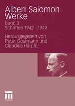 Albert Salomon Werke 3