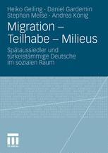 Migration – Teilhabe – Milieus