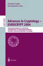 Advances in Cryptology - EUROCRYPT 2004