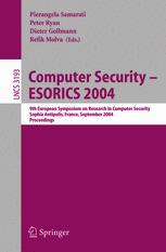 Computer Security – ESORICS 2004