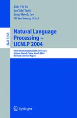 Natural Language Processing – IJCNLP 2004