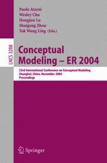 Conceptual Modeling – ER 2004