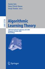 Algorithmic Learning Theory