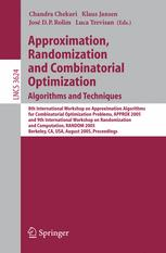 Approximation, Randomization and Combinatorial Optimization. Algorithms and Techniques
