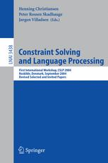 Constraint Solving and Language Processing