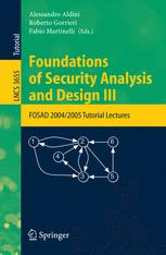Foundations of Security Analysis and Design III