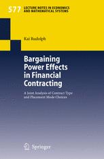 Bargaining Power Effects in Financial Contracting
