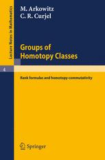 Groups of Homotopy Classes