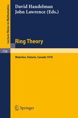Ring Theory Waterloo 1978 Proceedings, University of Waterloo, Canada, 12–16 June, 1978