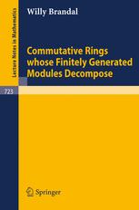Commutative Rings whose Finitely Generated Modules Decompose