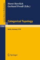 Categorical Topology