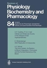 Reviews of Physiology, Biochemistry and Pharmacology, Volume 84