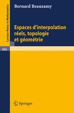 Espaces d'Interpolation Réels: Topologie et Géométrie
