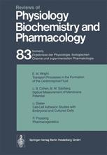 Reviews of Physiology, Biochemistry and Pharmacology, Volume 83