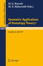 Geometric Applications of Homotopy Theory I